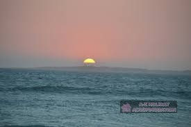 robben island sunset